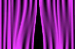 Le luxe plisse le rideau pourpre (le vecteur) Photo libre de droits