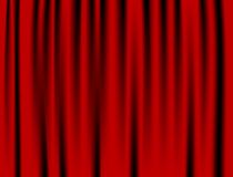 Le luxe plisse le rideau rouge et beaucoup d'ombres Image libre de droits