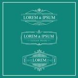 Le luxe s'épanouit des logos élégants calligraphiques d'ornement illustration de vecteur