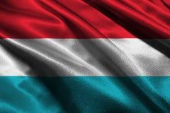 Le Luxembourg diminuent, symbole d'illustration du drapeau national 3D du luxembourgeois Photo stock