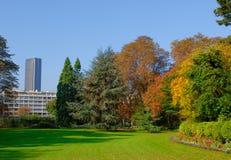 Le Luxembourg font du jardinage, tour de Montparnasse, Paris Images libres de droits