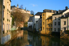 Le Luxembourg-Grund Image libre de droits