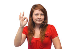Le lycklig kvinna Fotografering för Bildbyråer