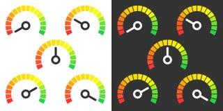 Le mètre signe l'élément infographic de mesure Photographie stock