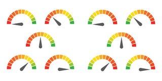 Le mètre signe l'élément infographic de mesure Photos stock