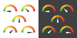 Le mètre signe l'élément infographic de mesure Photo stock