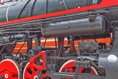 Le mécanisme de balancier du Soviétique se piquent la locomotive L de fret Photos libres de droits