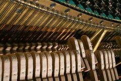 Le mécanisme de piano image libre de droits