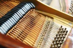 Le mécanisme intérieur du piano de piano Photographie stock