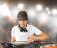 Le mélange du DJ Photographie stock
