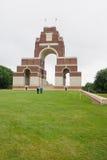 Le mémorial dans Thiepval Image libre de droits
