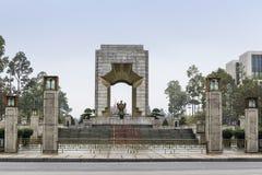 Le mémorial de guerre entre Ho Chi Minh complexe et ville antique de Thang la longue à Hanoï photographie stock