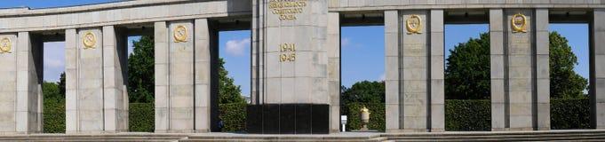 Le mémorial de guerre soviétique dans le Tiergarten en Berlin Germany Images stock