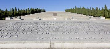 Le mémorial de Première Guerre Mondiale de Redipuglia image libre de droits