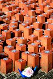 le mémorial hollandais de camp lapide le westerbork Photo libre de droits