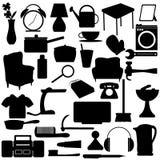 Le ménage silhouette des éléments illustration stock