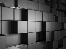Le métal argenté abstrait cube le fond Photos libres de droits