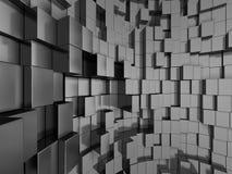 Le métal argenté abstrait cube le fond Photo stock