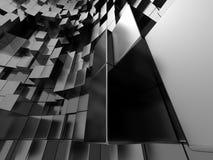 Le métal argenté abstrait cube le fond Image stock
