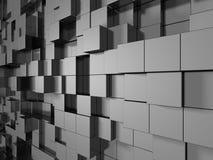Le métal argenté abstrait cube le fond Photographie stock