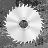 Le métal argenté a vu le disque Photographie stock