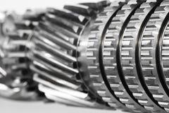 Le métal détaille le fond de design industriel Photo stock