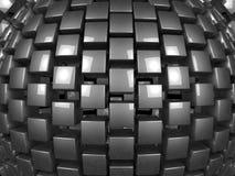 le métal 3d cube le modèle de fond Illustration Stock