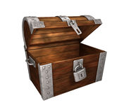 Le métal de coffre de trésor déverrouillé et s'ouvrent Image stock