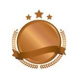 Le métal en bronze moderne de cercle badges, des labels et des éléments de conception Illustration de vecteur Photographie stock libre de droits