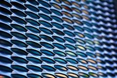 Le métal troue le fond Photo libre de droits