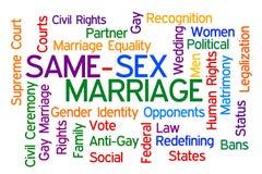 Le même mariage de sexe Images stock
