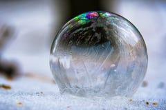 Le même tir de la bulle de savon dans la mousse Photographie stock libre de droits