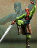 Le maître d'épée de Kung illustration libre de droits
