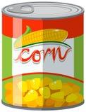 Le maïs peut dedans illustration stock