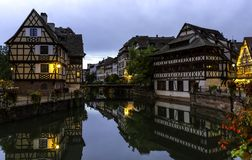 Le Mały Francja w Strasburg Śródmieście, cembrujący obraz stock