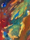 Le macchie verdi viola strutturate variopinte del tessuto del modello dell'estratto del fondo di arte dell'acquerello macchiano l Immagini Stock Libere da Diritti