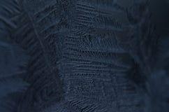 Le macro étroit des particules de glace donnent à la congélation une consistance rugueuse de neige Photos libres de droits