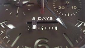 Le macro chariot a tiré de l'indicateur de réservation de puissance de la montre-bracelet clips vidéos