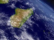 Le Madagascar de l'espace illustration de vecteur