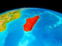 Le Madagascar en rouge Photo stock