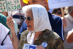 Le madri di Plaza de Mayo Fotografia Stock Libera da Diritti