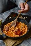 Le madrileno espagnol de cocido, cuisent typique de Madrid Photos stock