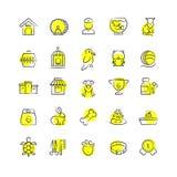 Le magasin de bêtes, les animaux et les animaux familiers accessoirise les icônes linéaires illustration de vecteur