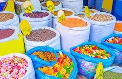 Le magasin de céréales chez Manning Market photographie stock libre de droits