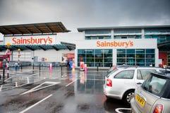 Le magasin de Sainsbury à Manchester, R-U Images stock