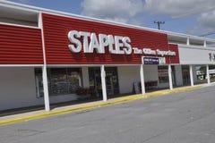 Le magasin de Staples dans la ceinture verte, Marylan photographie stock