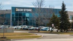 Le magasin Mississauga d'entreprise de bière Image stock