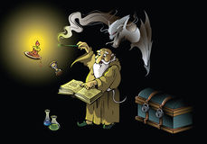 Le magicien appelle le démon illustration libre de droits