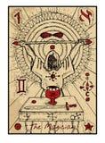Le magicien La carte de tarot illustration stock