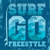 Le magliette vanno praticare il surfing, praticare il surfing di Miami Beach, Florida Illustrazione di Stock
